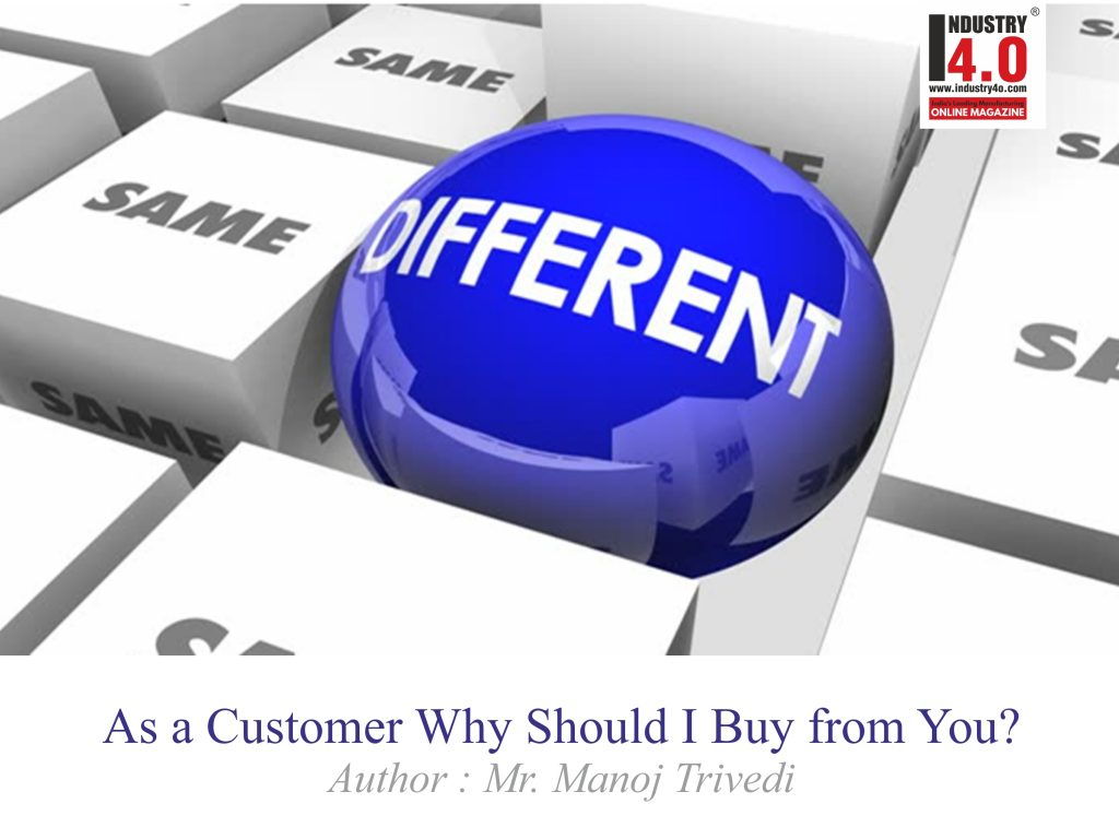as a customer why should I buy from you?